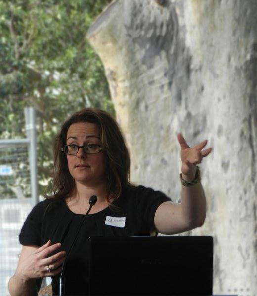 Natalie Reynolds addresses the FSC Australia membership during her time as CEO. Image source: FSC Australia