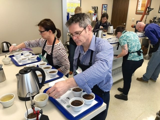 Cuppers at the March 2016 Cupping for Quality event.