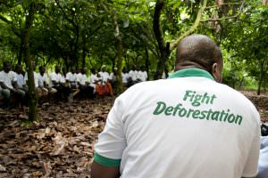 Cocoa farmer training in Ghana