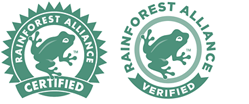 The Rainforest Alliance Certified™ Seal and the Rainforest Alliance Verified™ Mark