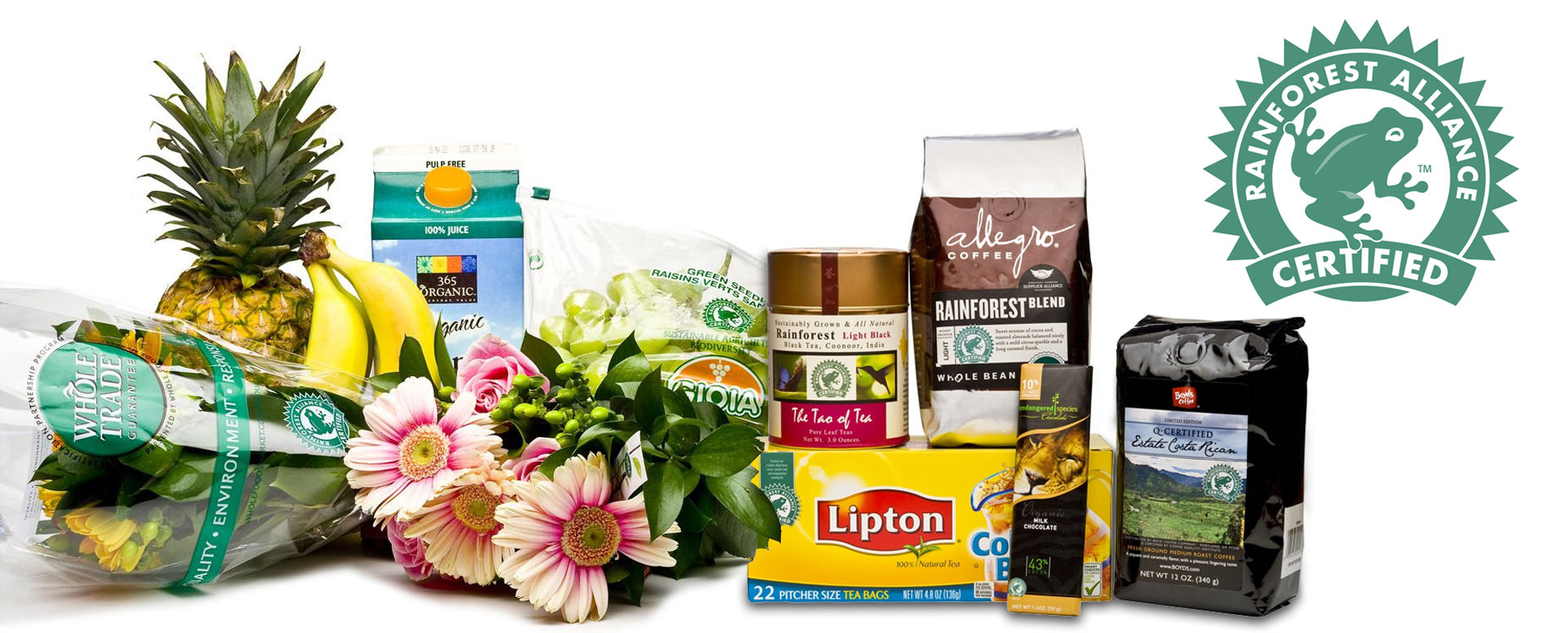 Products bearing the Rainforest Alliance Certified(TM) Seal