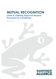 Mutual Recognition – Claim & Labeling Approval Request Processes for Companies