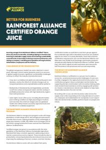 Better for Business: Rainforest Alliance Certified Orange Juice