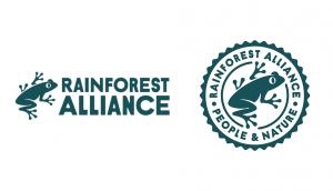 Rainforest Alliance logo and seal