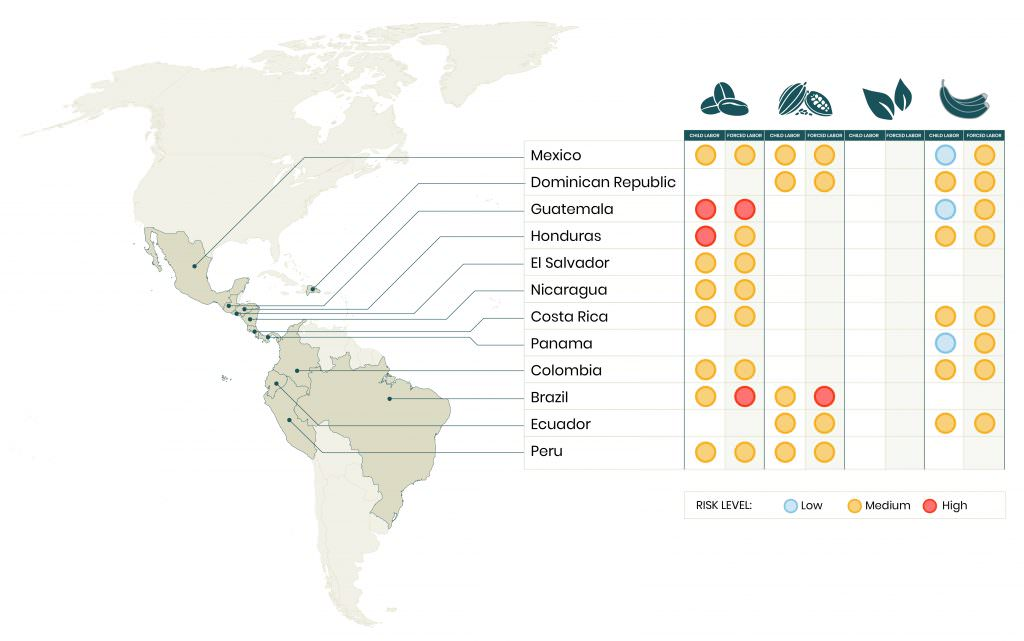 child labor and forced labor risk maps