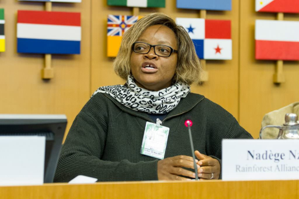 Nadège Nzoyem, parceira Rainforest Alliance