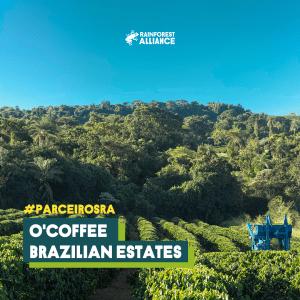 Lavoura e reserva da O'Coffee, fazenda certificada Rainforest Alliance