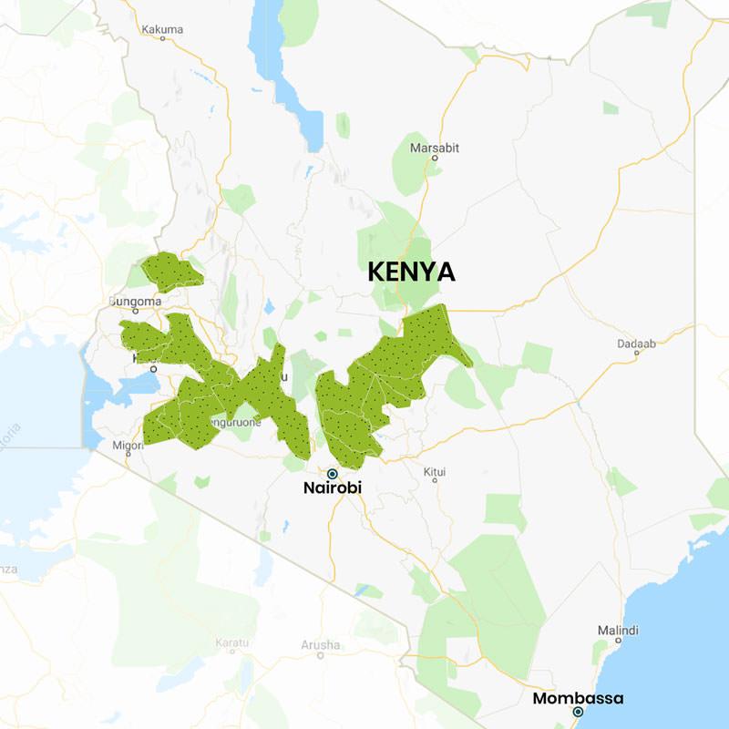 Renewable energy project area in Kenya - Map