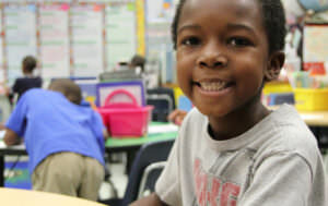 First grade student at Henry F Kite Elementary School in Jacksonville Florida