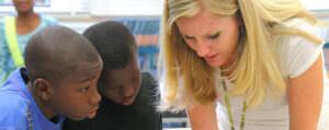Students with teacher at Susie Tolbert Elementary School in Jacksonville, Florida